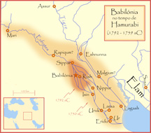 Ancient Babylon Map (Wikimedia Commons)