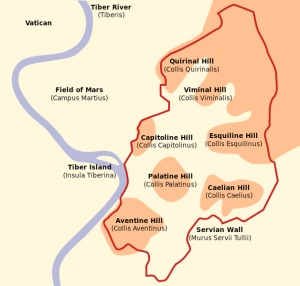 Seven Hills of Rome (Wikimedia Commons)