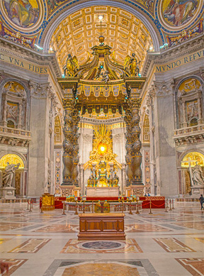 Vatican Throne (Bengt Nyman, Wikimedia Commons)