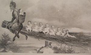 Krampus Taking the Babies