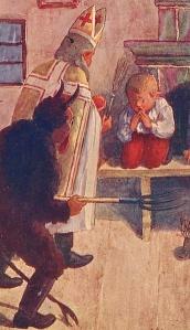 St. Nicholas and his alter-ego Krampus