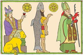 Nimrod, Dagon, Pope