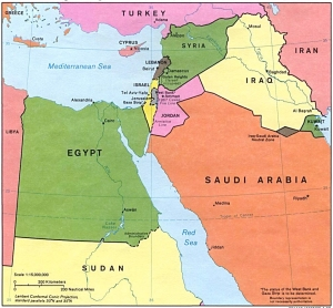 Middle East Mediterranean Sea
