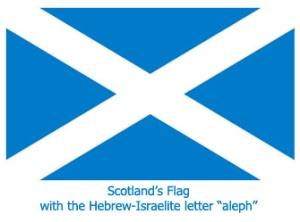 Scotland Flag, Israelite Heritage
