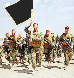 Will there be an army carrying black flags?
