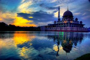 While this is beautiful, it is only temporary. (Putrajaya Mosque, by Nazir Amin, Wikimedia Commons)