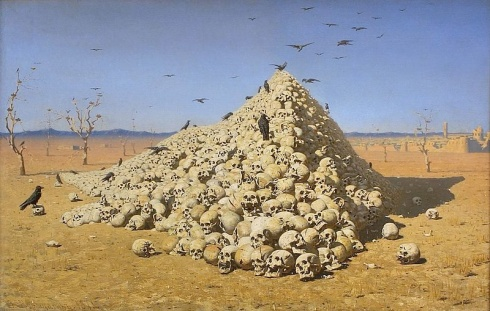 Vasily Vereshchagin - The Apotheosis of War (1871) (Wikimedia Commons)