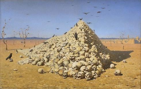 Vasily Vereshchagin - The Apotheosis of War (1871) (Wikimedia Commons)