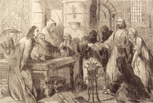 The Interrogation of Jacques de Molay (Wikimedia Commons)