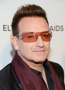 Bono at an Elton John AIDS Foundation Charity Event