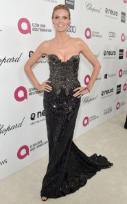 Heidi Klum at an Elton John's AIDS Foundation Charity Event