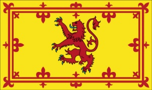 Judah Zarah's Red Lion Symbol on the Scottish Standard.