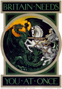 Prophecy through Posters. The White Horsemen showed up: Angel of Mons and Battle of Bethune.