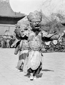 1919 Devil Dance at Lama Temple, China