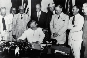 FDR Signs Banking Act 1935