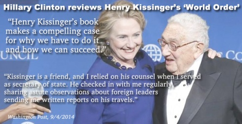 Hillary Clinton Reviews Kissinger's World Order Book