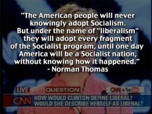 Liberal-Socialist Hillary Clinton