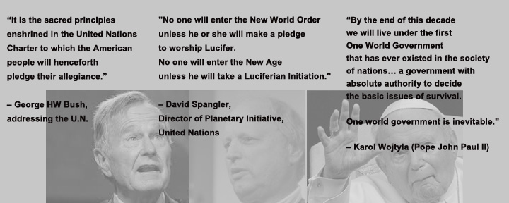 UN-NWO Quotes-All on the Same Page