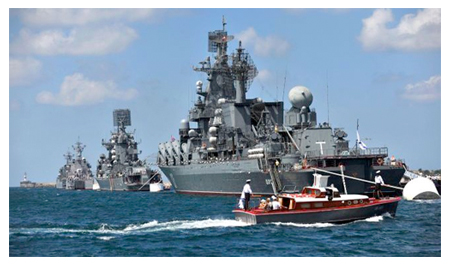 Russian warships in Med