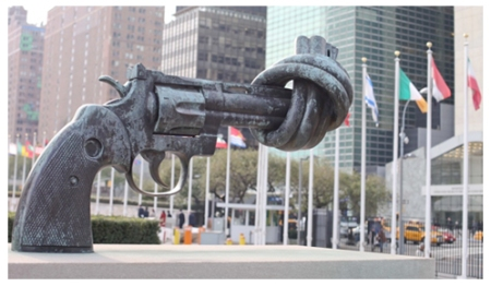 UN Symbol of Disarm
