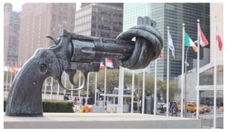 UN Symbol of Disarm