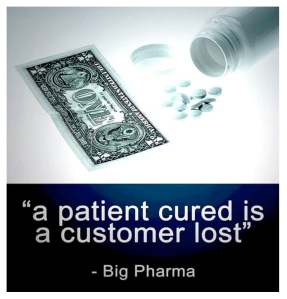 Cured patient is customer lost