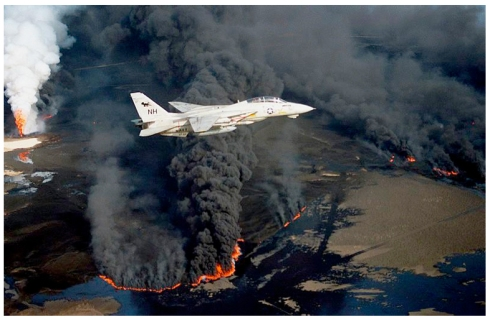 Burning Oil Fields, Invasion of Kuwait, Revelation 9.