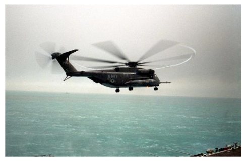 Example of the halo-effect in the Gulf on a Super Stallion.