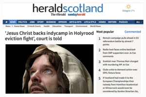 HeraldScotland, Jesus Christ Backs Indycamp