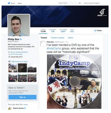 Philip Sim IndyCamp Tweet